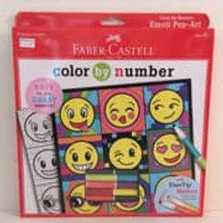 Faber Castle color by number, emojis