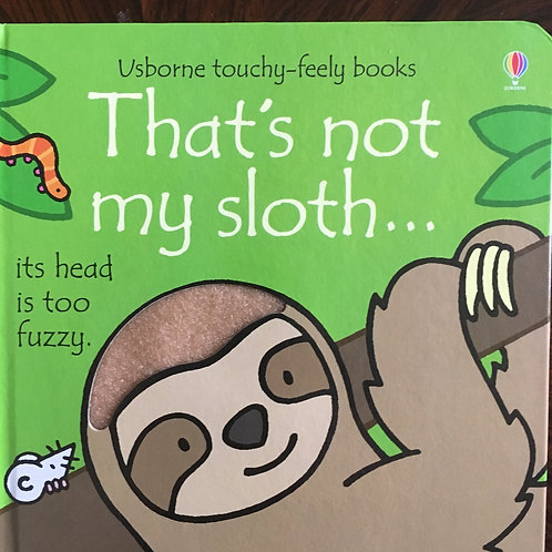 Usborne touchy-feely books, That's not my sloth?