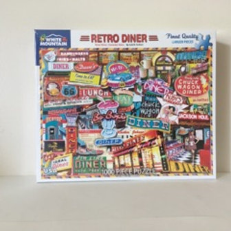 White Mountain Retro Diner Puzzle
