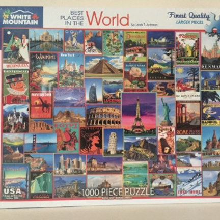 White Mountain 1000 pc Puzzle, Best Places in the World
