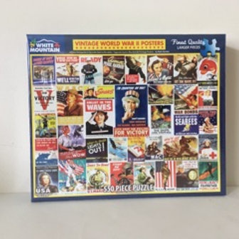 White Mountain World War 2 Posters Puzzle