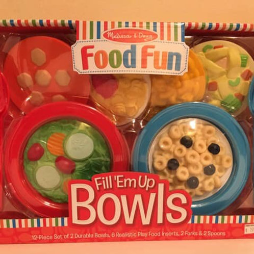 Melissa & Doug Food Fun, Fill'em up bowls