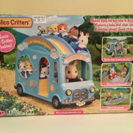 Calico Critters Rainbow Bus
