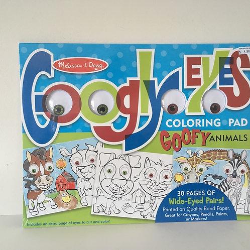 Melissa & Doug Googly Eyes Coloring Pad - Goofy Animals