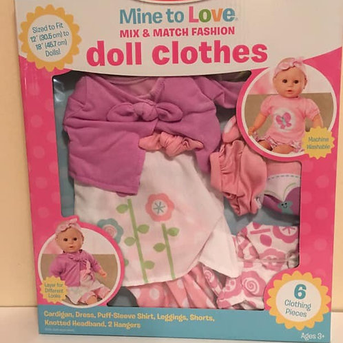Melissa & Doug Mine to Love MIX & MAX FASHION / Doll Clothes