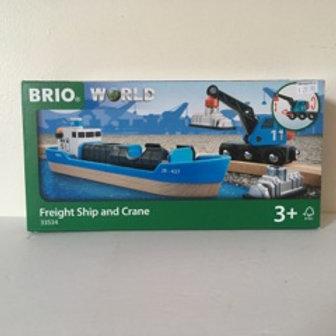 Brio Freight Ship and Crane #33534