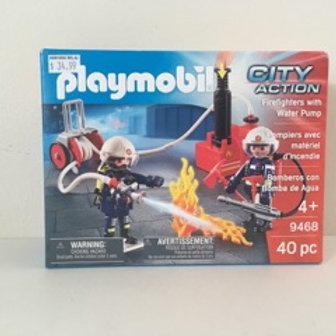 Playmobil City Action - Firefighters with Water Pump