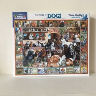White Mountain The World of Dogs Puzzle