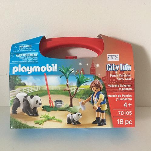 Playmobil City Life Panda Caretaker