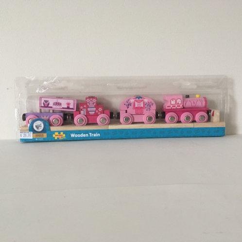 Big Jigs Pink Wooden Train