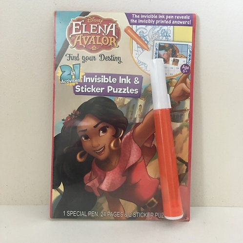 Lee Invisible Ink & Sticker Puzzles - Disney Elena