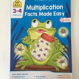 School Zone Multiplication Facts Made Easy