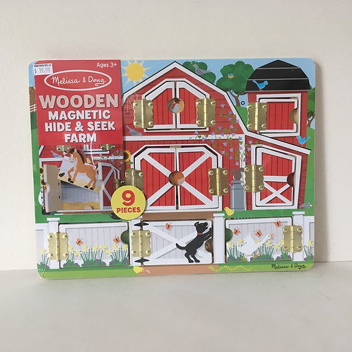 Melissa & Doug Wooden Magnetic Hide & Seek Farm
