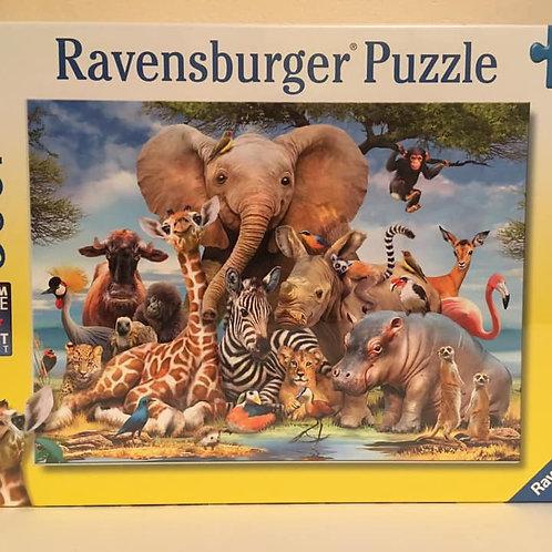 Ravensburger 300 XXL pc Puzzle, safari animals