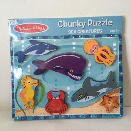 Melissa & Doug Chunky Puzzle - Sea Creatures