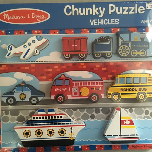 Melissa & Doug Chunky Puzzle - Vehicle