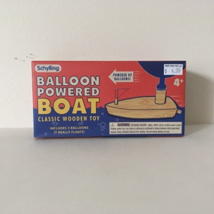 Schylling Balloon Powered Boat Classic Wooden Toy
