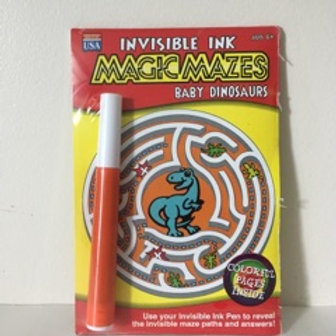 Lee Invisible Ink Magic Mazes - Baby Dinosaurs