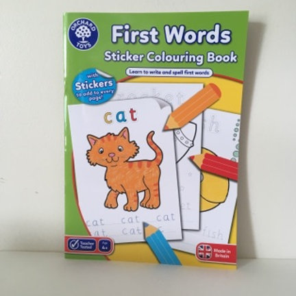 First Words Sticker Coloring Book