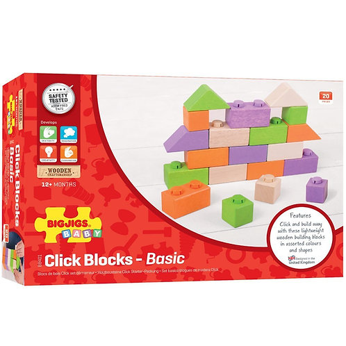 BIGJIGS Click Blocks (Intermediate Pack)