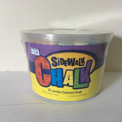 Bucket of Jumbo Colored Sidewalk Chalk