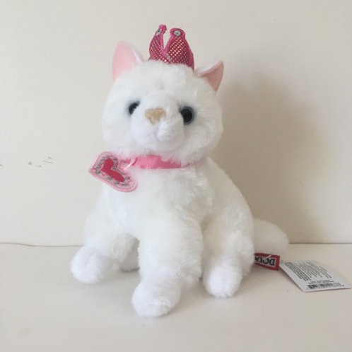 Douglas Dutchess White Cat with Crown