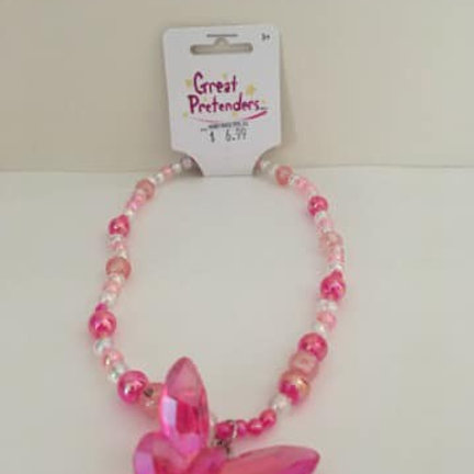 Great Pretenders Pink Necklace, Butterfly