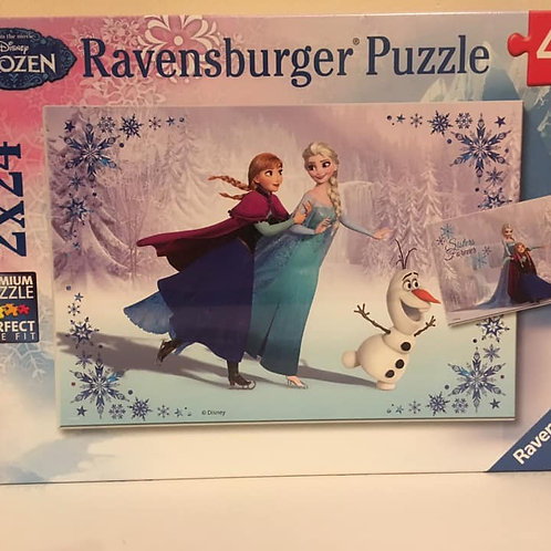Ravensburger 2X24 pc Puzzle, Frozen Ice Skating