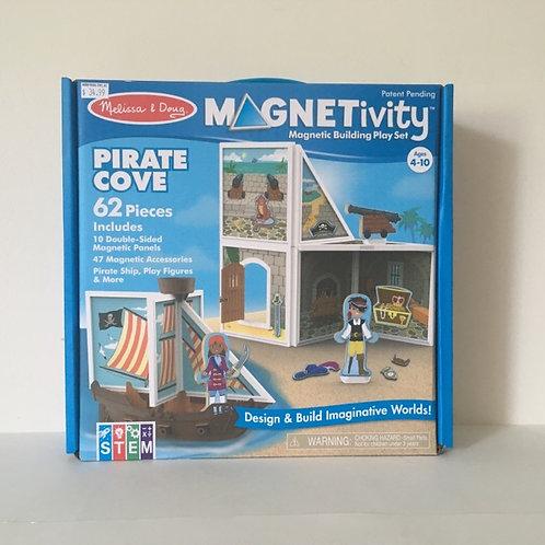 Melissa & Doug Magnetivity Pirate Cove Magnetic Building Set