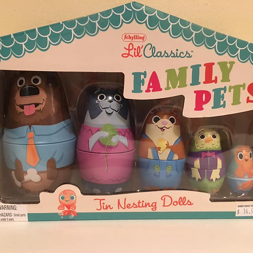 Schylling Lil' Classics FAMILY PETS Jin Nesting Dolls