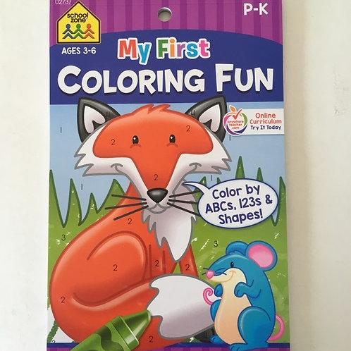 School Zone My First Coloring Fun