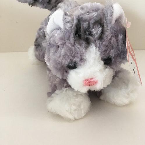 Gund 8 inch Plush Gray Cat - Bootsie