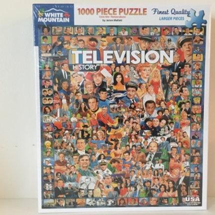 White Mountain 1000 pc Puzzle, Television