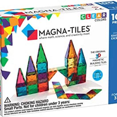 Magna-Tiles? Clear Colors 100-Piece Set