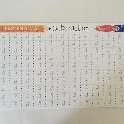 Melissa & Doug Learning Mat - Subtraction