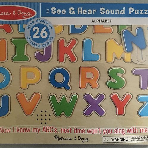 Melissa & Doug See & Hear Sound Puzzle - Alphabet