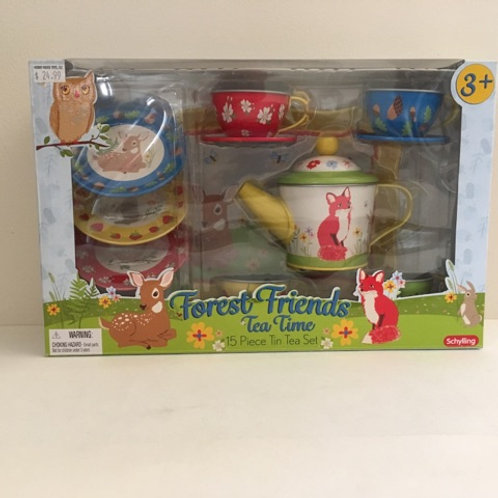 Forest Friends Tin Tea Time Set