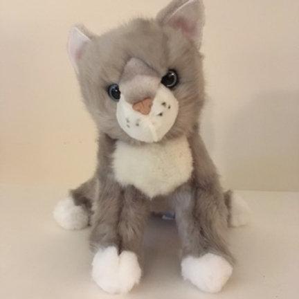 Douglas Rita Light Gray Cat Plush #4395