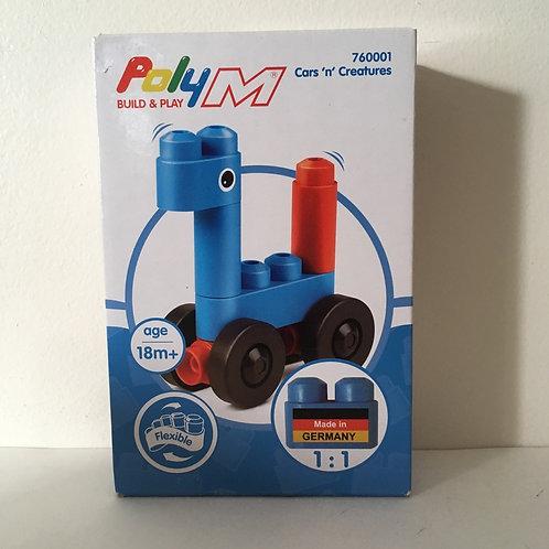 Poly M Flexible Building Set -Cars & Creatures