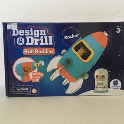 Educational Insights Design &  Drill Bolt Buddy Rocket