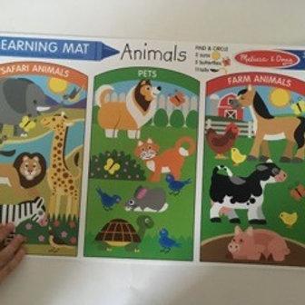Melissa & Doug Learning Mat - Animals