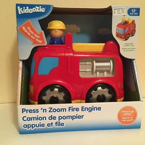 Kidoozie Press 'n Zoom Fire Engine