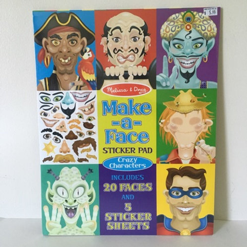 Melissa & Doug Make a Face Sticker Pad - Crazy Characters