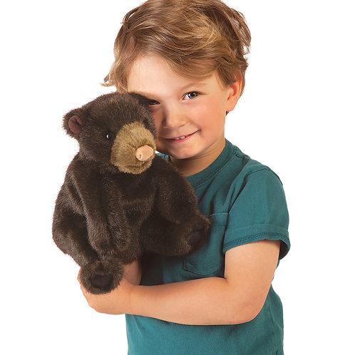 Folkmanis Small Black Bear Puppet