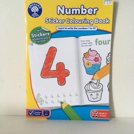 Number Sticker Coloring Book