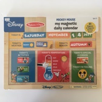 Melissa & Doug Mickey Mouse My Magnetic Daily Calendar