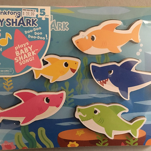 Cardinal Baby Shark Wooden Sound Puzzle