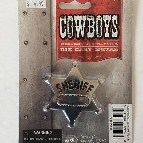 Cowboys Western Toy Replica Die Cast Metal Sherriff Badge