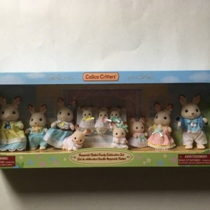 Calico Critters Hopscotch Rabbit Family Celebration Set