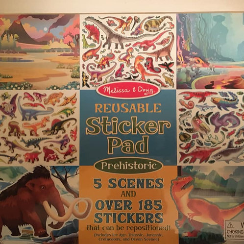 Melissa & Doug Reusable Sticker Pad 5 Prehistoric Scenes